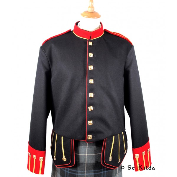 Black, Red and Gold Military Doublet - 52R